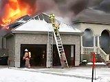 Pompier fail en essayant d'éteindre un feu