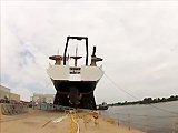 Gros fail durant la mise à l'eau d'un bateau