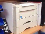 Une imprimante qui récupère son papier