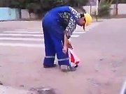 Un employé de mairie russe au boulot