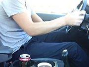 Un porte-gobelet de voiture stabilisé