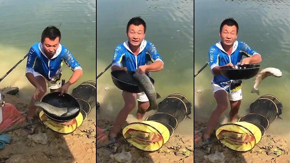 Content d'avoir pêché son tout premier poisson