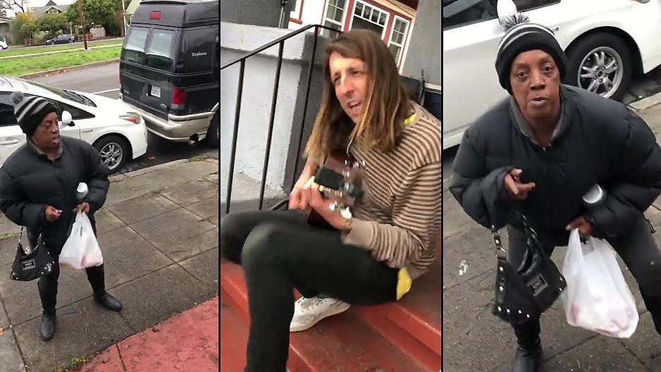 Elle remercie sa voisine de lui avoir prêté des pinces