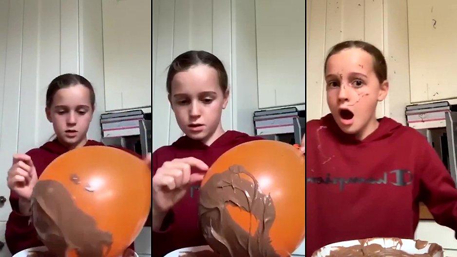 Du Nutella sur un ballon
