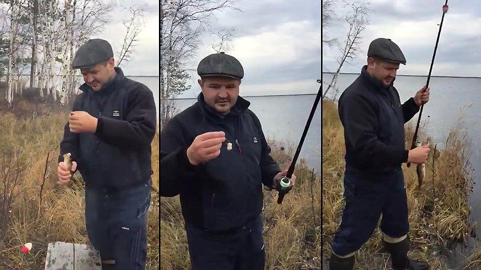 Un russe en train de pêcher