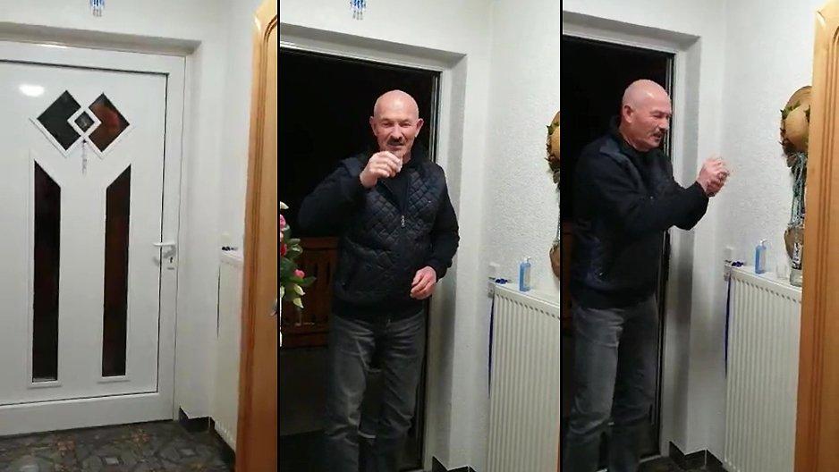 Un russe rend visite à sa famille