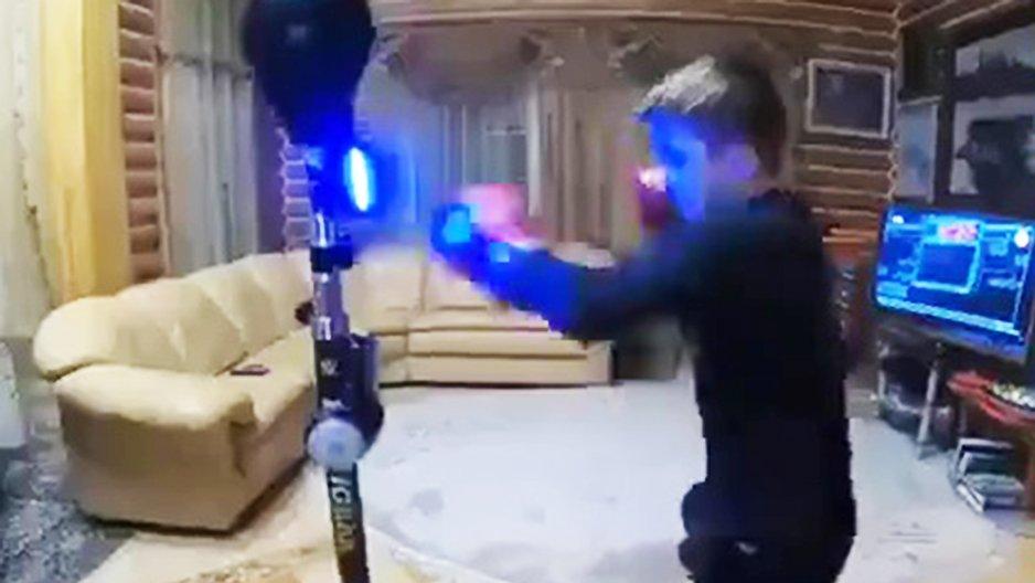 Entrainement de boxe à la maison